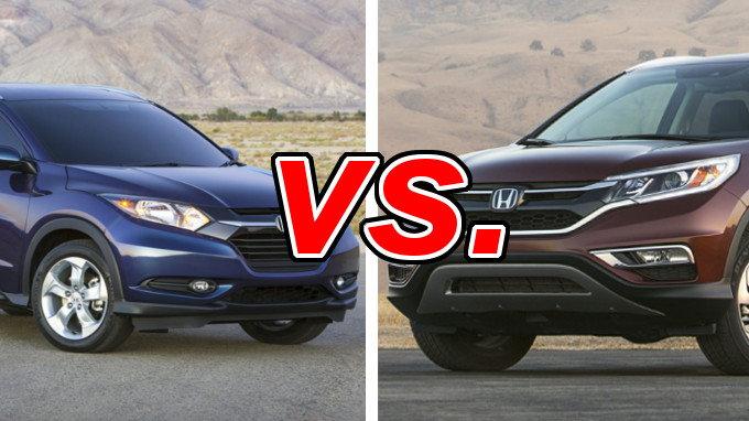 Hondahr v vs hondacr v for Honda hrv vs honda crv