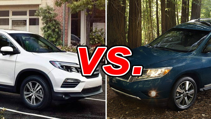 honda pilot vs nissan pathfinder carsdirect. Black Bedroom Furniture Sets. Home Design Ideas