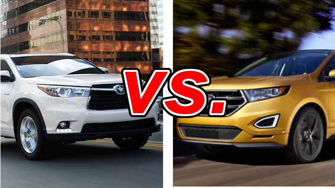Ford Edge Vs Ford Escape >> Toyota Highlander vs. Ford Edge - CarsDirect