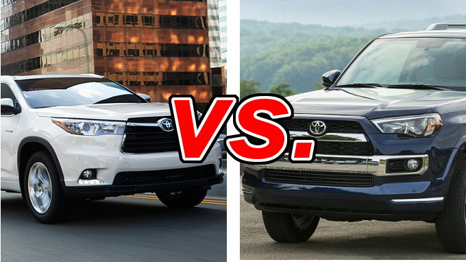 Nissan Rogue Vs Murano >> Toyota Highlander vs Toyota 4Runner - CarsDirect