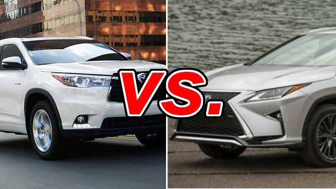 Toyota Highlander Hybrid vs. Lexus RX 450h - CarsDirect