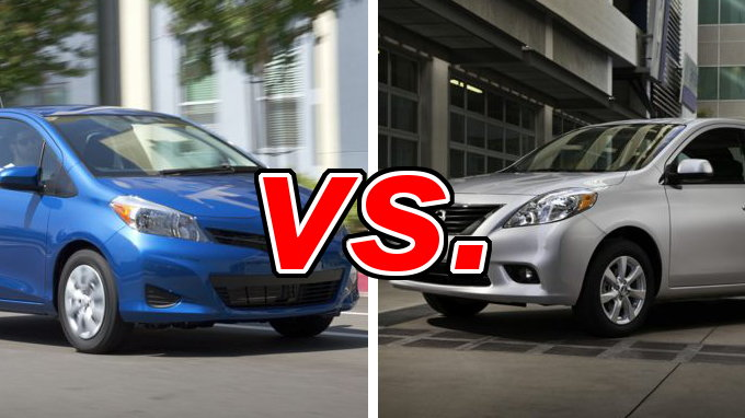 toyota yaris vs nissan versa   carsdirect