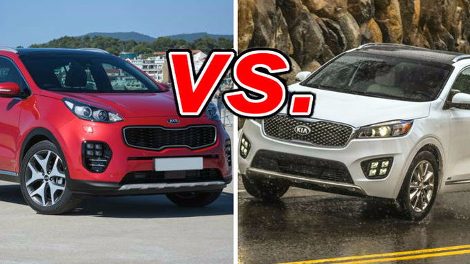 kia sportage vs kia sorento carsdirect. Black Bedroom Furniture Sets. Home Design Ideas
