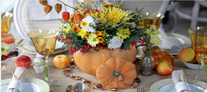 pumpkin thanksgiving centerpiece