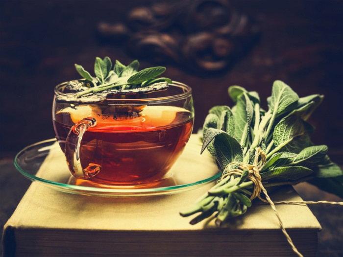 A cup of sage tea