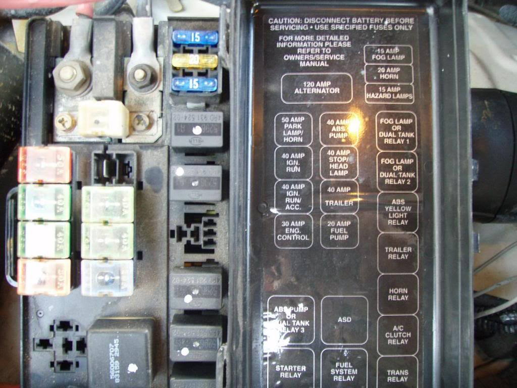 dodge ram 1994 2001 fuse box diagram dodgeforum 99 Dodge Caravan Wiring Diagram 1991 Dodge Caravan Wiring Diagram