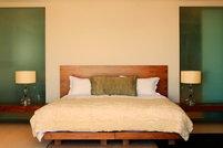 A feng shui bedroom.