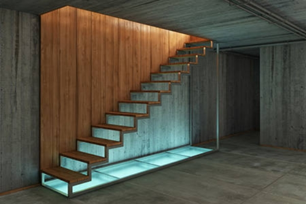 Planning a basement staircase build - How to build a garage cheaply steps ...