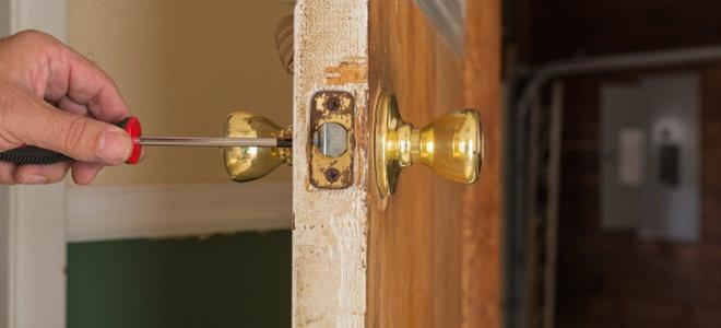 How to Repair a Loose Doorknob DoItYourselfcom