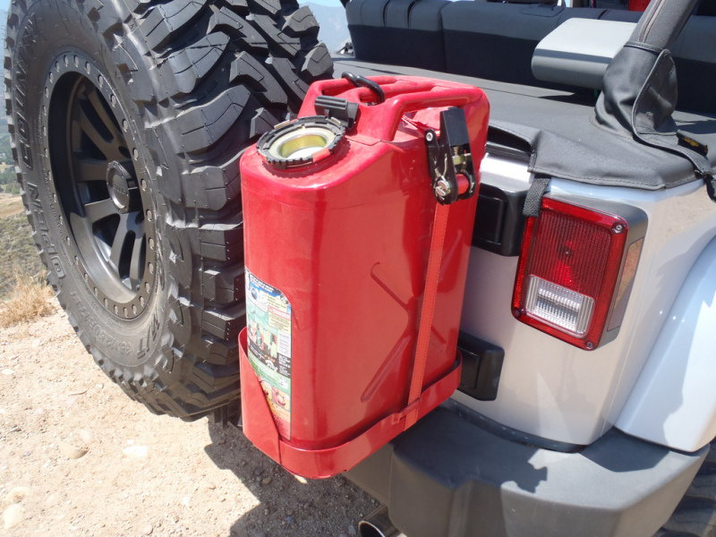Jerry Can Holder For Truck Bed >> The gallery for --> Jerry Can Holder Spare Tire