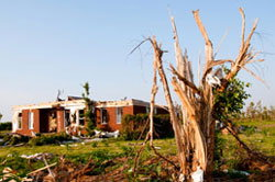 House demolished by tornado