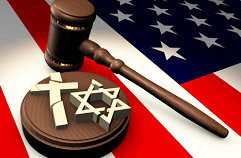 Gavel and Religious Symbols