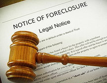 Foreclosure Notice and Gavel