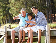 Three generations fishing