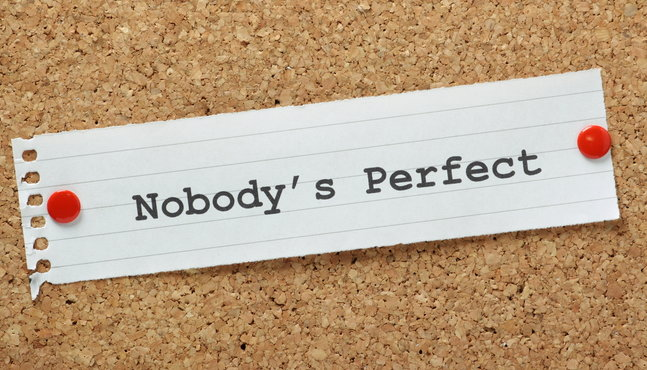 note that reads nobody's perfect