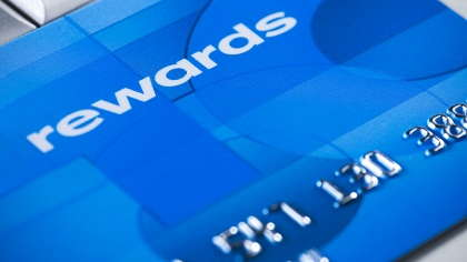 A rewards credit card.