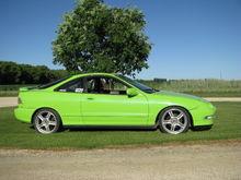 My 95 Integra GSR (Barracuda Lime Green w/ Blue Pearl)