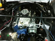 289 with new Performer intake, Fast Injection, vintage air.