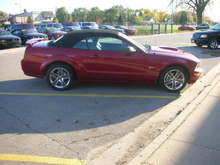 my stang at the dealership