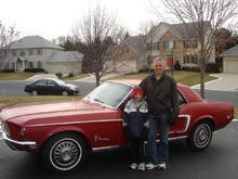 craig and mike with mustang