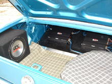 "MTX 10"" sub in trunk"