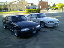 Tom's black 88GT with my grey 89GT