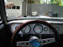 driver view of custom dash