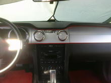 Red welt trim for the dash.