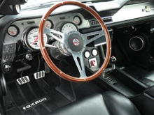 Mohagony Wood Steering Wheel with Shelby GT 500 Logo