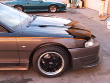 Up close, DEI Cobra R rims, Sumitomo r17s (255s) and Ford v6 emblems