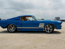 1967 custom fastback blue boss