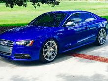 Audi S5 Sepang Blue   HRE