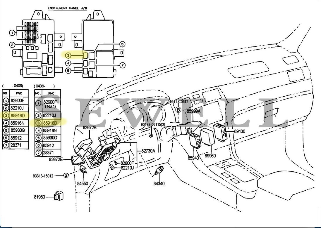 Lexus Rx330 Fuse Box Diagram - Get Wiring Diagram And Fuses