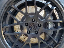 Before with standard caliper colour