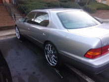My 2000 Lexus LS400: Final result driver side view.