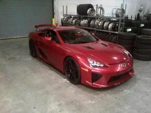 "Pearl Red LFA for SEMA 2011..  22"" Forgestar wheels & Falken Tires"
