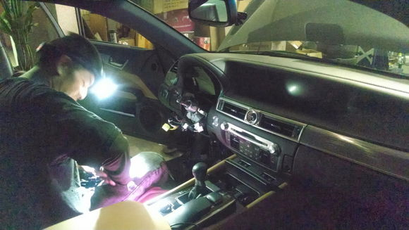 Fog Lights being  installed by Tommy @ Music Box