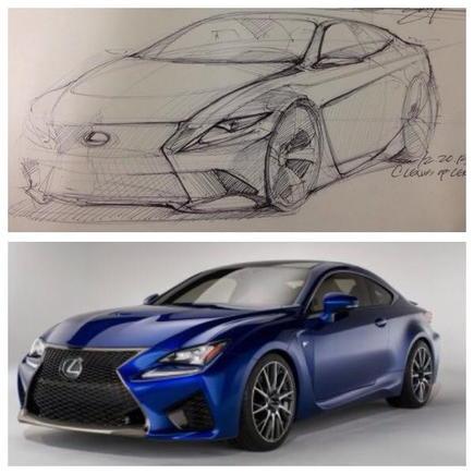 RC F sketch comparison