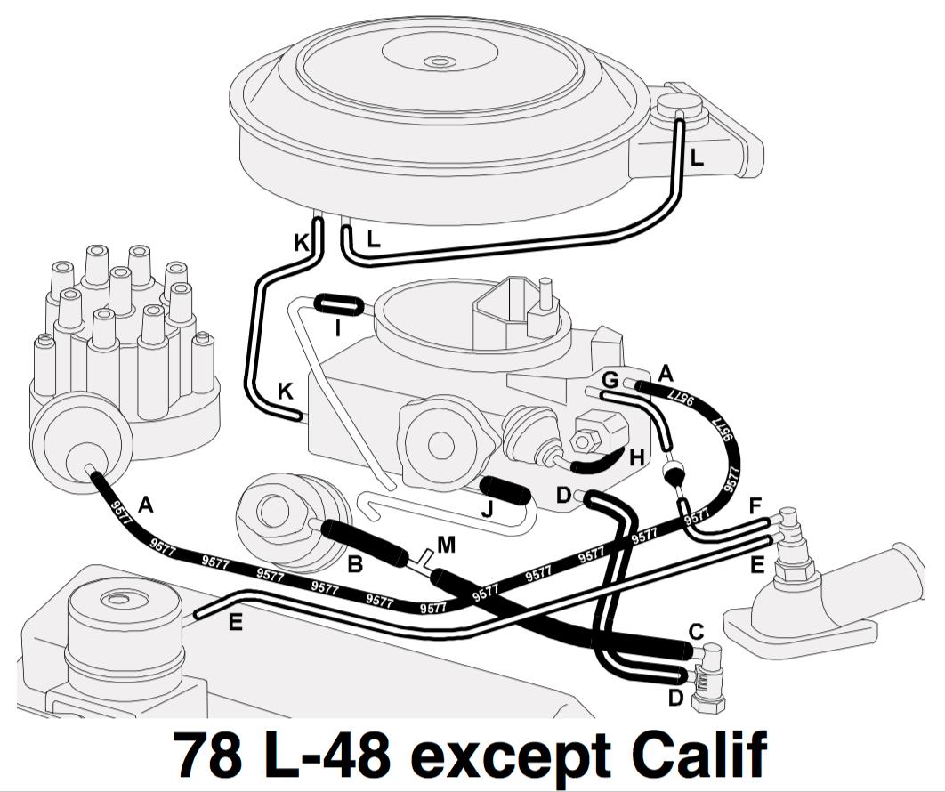 Putting My Carb Back On My  U0026 39 79  Questions Regarding Vacuum Hoses - Corvetteforum