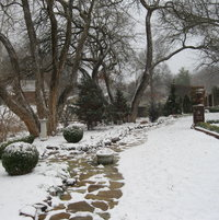 January 30, 2013 - the border is peaceful under a light dusting of snow