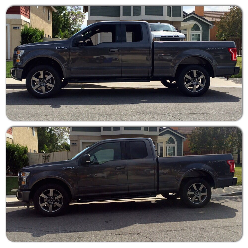 F250 3 5 leveling kit before and after autos post