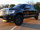 BLACK F150 PLATINUM