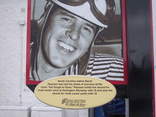 Sign out front of Darlington Speedway