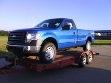 This was the morning my truck arrived in Oklahoma from Columbia, MO