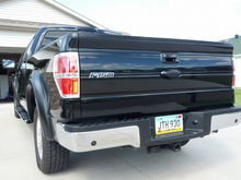 PTM Ford Oval with Custom black Logo, Painted tail light edges black, Night shaded 3rd brake light