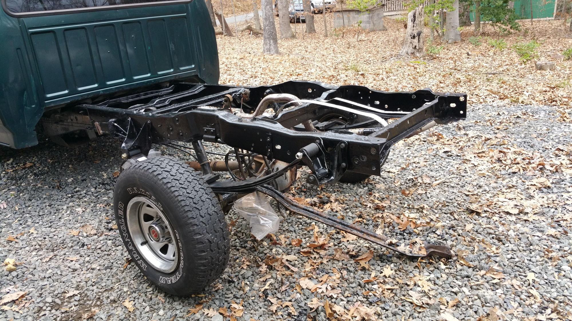 rear leaf spring install