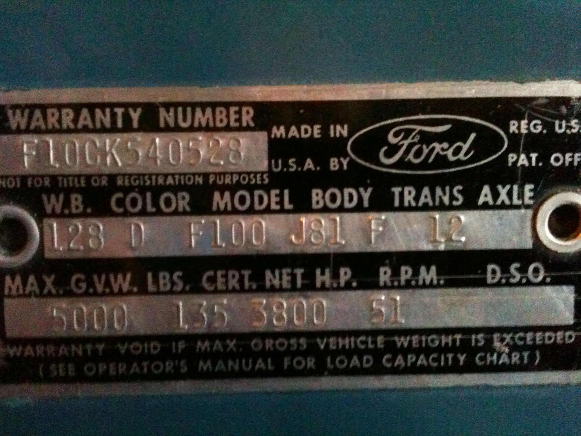 1968 ford truck vin decode autos weblog. Cars Review. Best American Auto & Cars Review