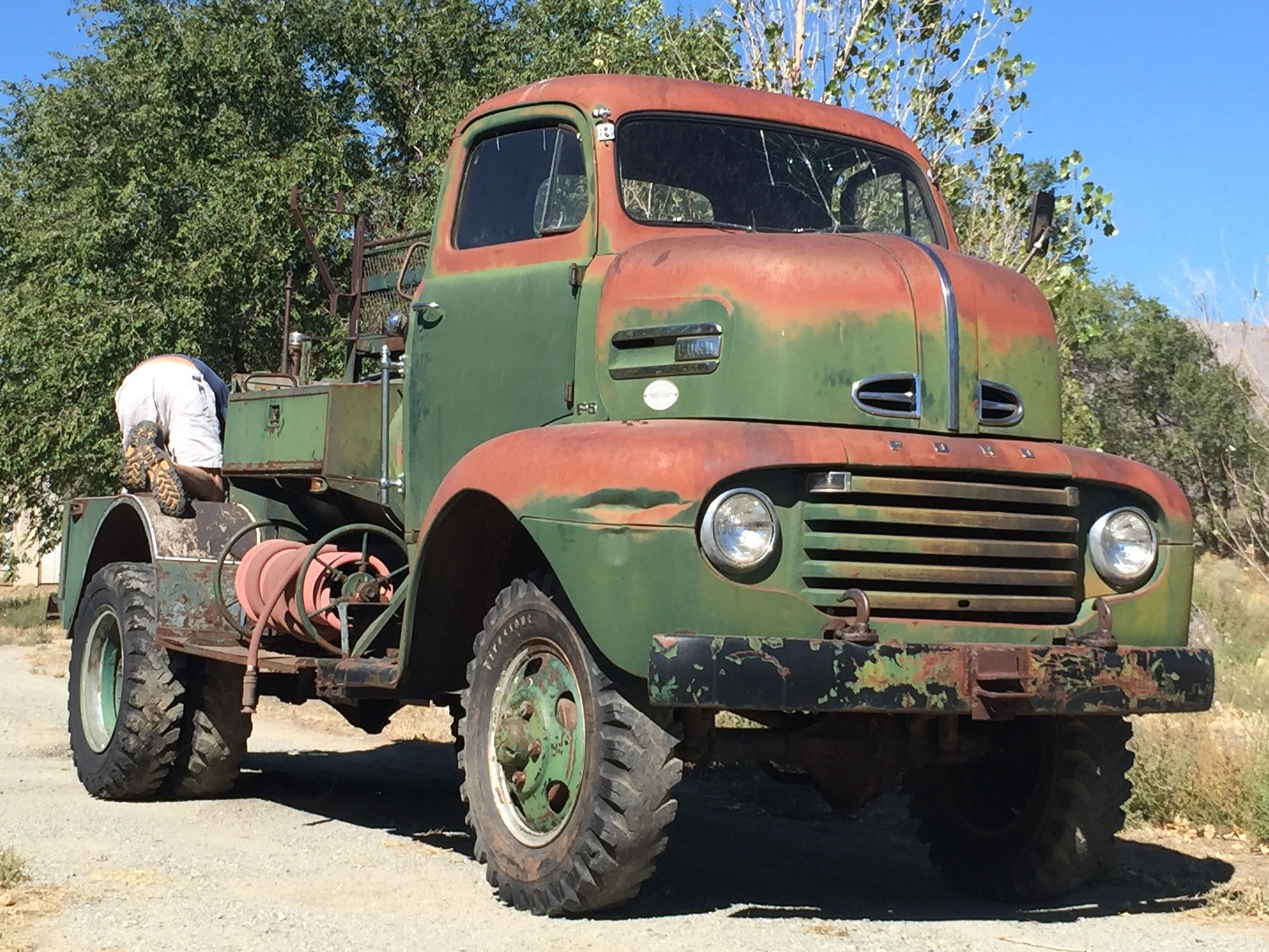 1950 ford f5 marmon herrington coe open carry forestry fire