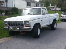 "78 F150 Short Bed 4x4 351m C6 9"" LS D44 Front"