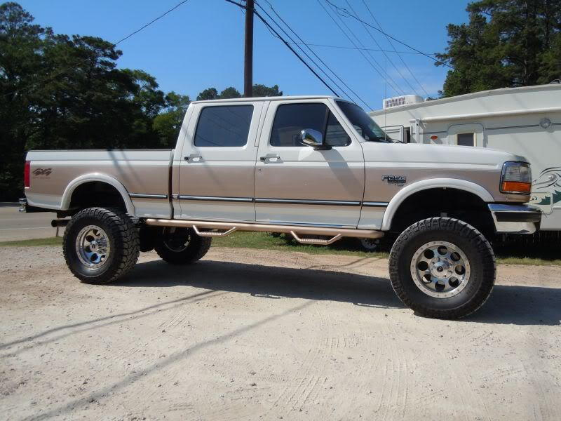 running boards for 1996 ford f350 crew cab truck. Black Bedroom Furniture Sets. Home Design Ideas